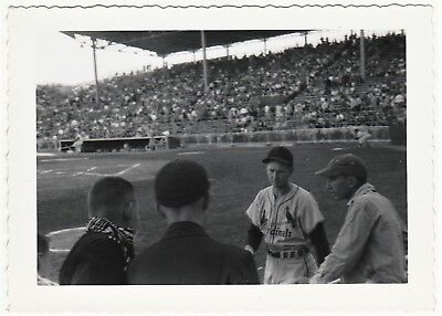 UNIQUE Baseball Photo  Eddie Kazak 1949  St Louis Cardinals Polo Grounds NY