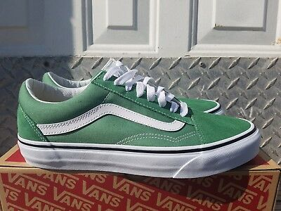 e4506bda1441 New In The Box Vans Old Skool Deep Grass Green True White Vn0A38G1Ukv For  Men