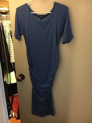 Isabella Oliver for A Pea in the Pod Maternity Dress, Size 2 Small, Womens, blue