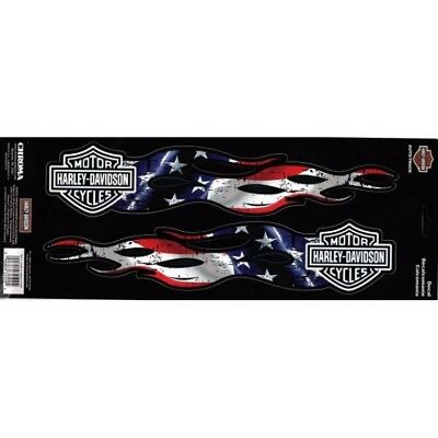 Harley-Davidson American Flaming Flag Vinyl Decal