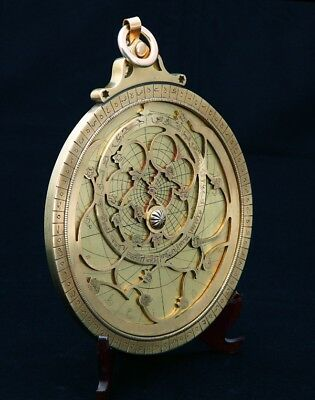 Astrolabe, Astrolabium (included four plates, body, ruler, Main Pin, Horse pin).