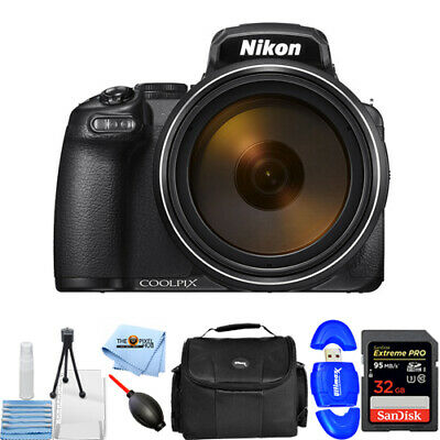 Nikon COOLPIX P1000 16MP Digital Camera with Starter 32GB Gadget Bag Bundle