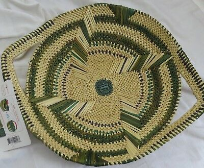 Fair Trade African Handwoven Fruit/Vegetable Tray with Handles