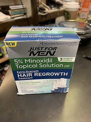 Just for Men EXTRA STRENGTH HAIR REGROWTH TREATMENT 3-Month Supply 5% Minoxidil