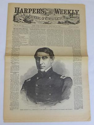 HARPERS WEEKLY January 12 1861 Battle of New Orleans Litho Full Newspaper