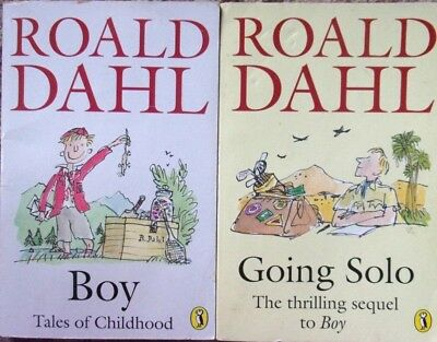 Boy Tales Of Childhood Going Solo By Roald Dahl 350 Picclick Uk