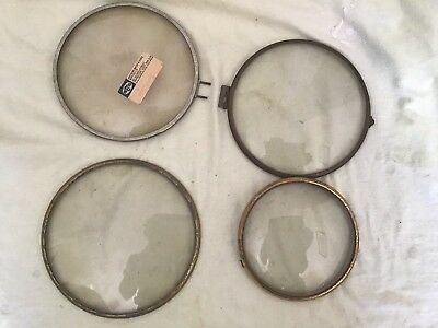 4 Clock Bezels With Convex Glass