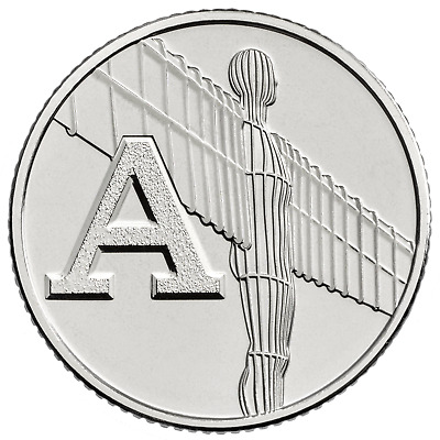 2018 Letter A 10p Coin - ANGEL OF THE NORTH - Great British Coin Hunt Royal Mint