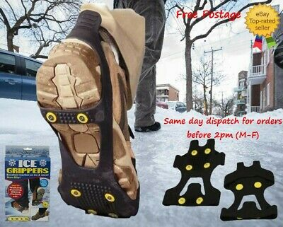 Snow Ice Grips Universal Anti Slip Spikes Crampon Boot Shoe Grippers Cleats