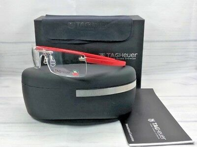 TAG HEUER TH3520 009 Rubber Red / Demonstration Lens 63mm Eyeglasses
