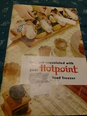 Vintage HOTPOINT Freezer Book, with Recipes and Instructions, Great Condition!