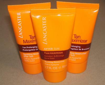 3 x 50 ml (150 ml) After Sun Tan Maximizer Soothing Moisturizer for Face + Body
