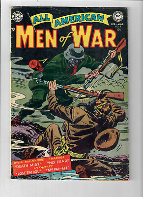 ALL AMERICAN MEN OF WAR #9 - Grade 5.0 - Golden Age Ross Andru, Gene Colan!