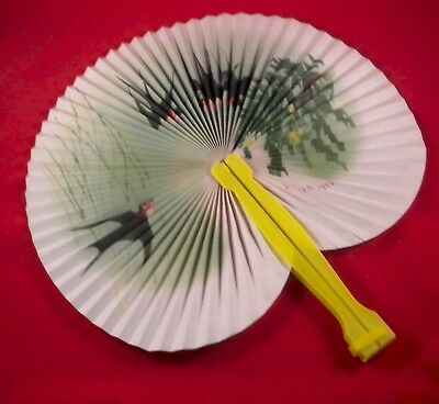 wholesale lot - 12 Designer Chinese Folding Travel Fans wholesale 79 cents each