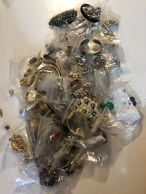 Huge Lot of Old Vintage Junk Jewelry For Crafter Some Resell-able