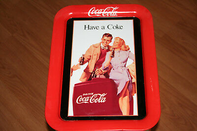 """""""Have a Coke"""" Coca-Cola Tray1991 Artwork from a 1948 Indoor Advertisement Poster"""
