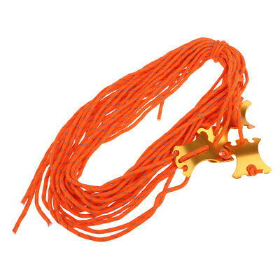 Tent Guy Line Rope Reflective Camping Tent Guide Cord Packaging Line Orange