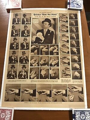 Cardini Poster -  Full Page Newspaper Article-Linen Mounted.