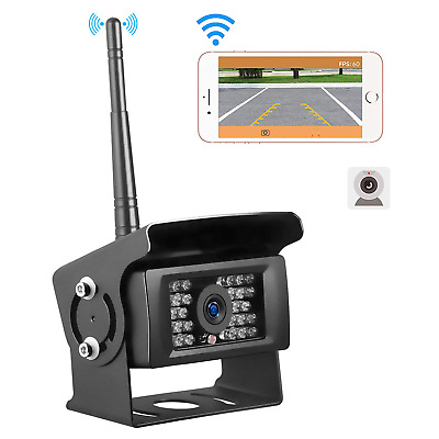 Wireless Wifi Truck RV Bus Front Rear View Backup Reverse Camera For IOS Android