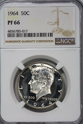 1964 Kennedy Half Dollar NGC PF66 Proof Solid B&W Ultra DCam Beauty