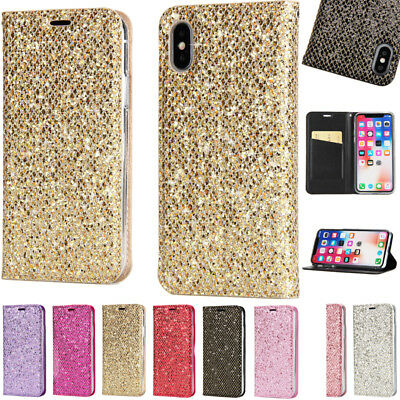 For Iphone Apple Case Xr/X/Xs Max 7Plus Mobile Phone Shell Case Cover Pu Glitter