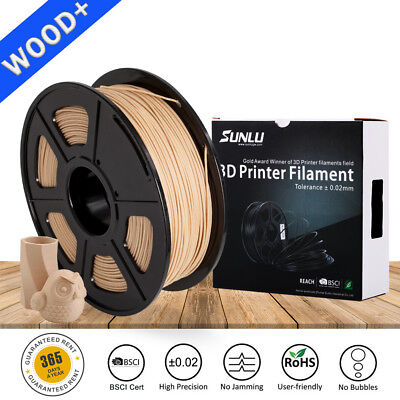 3D Printer Wood Filament 1.75mm 1KG/Roll 2.2LB Wooden Effects Similar With PLA