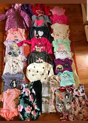 Toddler Girl Clothes 2t Lot Of 27 Pieces 18 mo 24 mo Fall Swim Play Gymboree