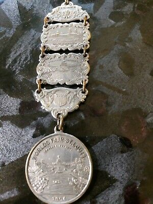 Louisiana Purchase Exposition St. Louis Watch Fob 1904