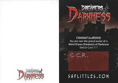 2010 Dreamers Of Darkness Blank Sketch Card....rare....you Pick Subject & Artist