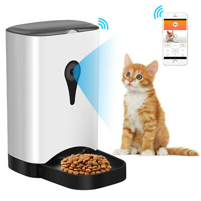 Smart Automatic Pet Feeder for Cats Dogs 4.5L with WiFi Control HD Camera Timer