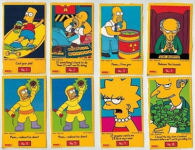 Berri Fruit Juices Collector Cards - The Simpsons (2000) - 24 large cutouts