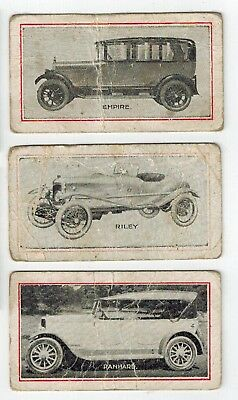 Griffiths Brothers Goblins - Motor Cars & Cycles (1920s) - 3 Collector Cards
