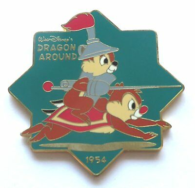 """Mickey and Pals store (Japan) pin: Chip & Dale """"Dragon Around"""", LE 2000"""
