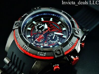 Invicta Marvel 52mm Bolt Viper Limited Ed BLACK WIDOW Chrono Black/Rd Dial Watch