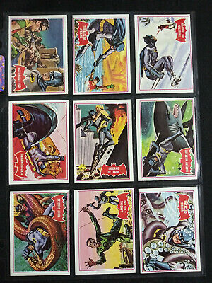 1966 Topps BATMAN Red Bat Trading Card LOT of 12 VF+ 8.5 All Different