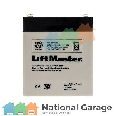 LiftMaster 12V 4.5AH Rechargable Battery Non Spillable DJW12-4.5 Leoch Backup