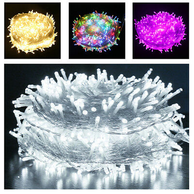 Safety Low Voltage 12V Electric 30M/50M/100M Fairy LED String Lights 8 Mode Xmas