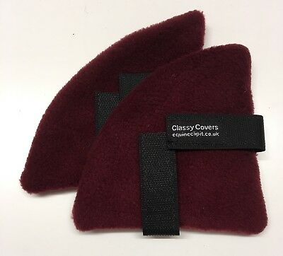 Burgundy Fleece  Riding Hat Ear Warmers. Great Xmas Gifts 🎁