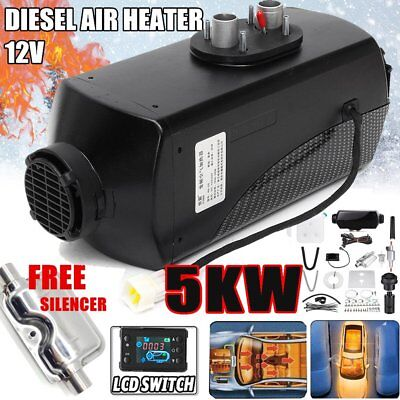 12V 5000W LCD Monitor Air Diesel Heater PLANAR 5KW for Car Truck Motor-Home UNew