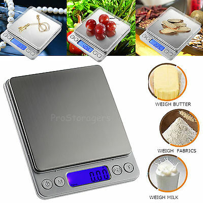 0.01-500g Digital LCD Kitchen Scale Jewelry Electronic Balance Food Weight Scale