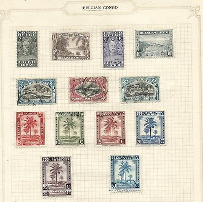 Belgian Congo 1915-1942 from an old collection mint/used