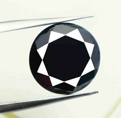 2.60Ct Natural African Black Moissanite Diamond Exclusive Round Shape Gems BY595