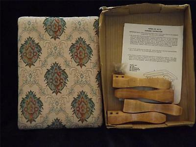 NIB Vintage Powell Furniture Pink Green Wooden Stool Bench Never Assembled
