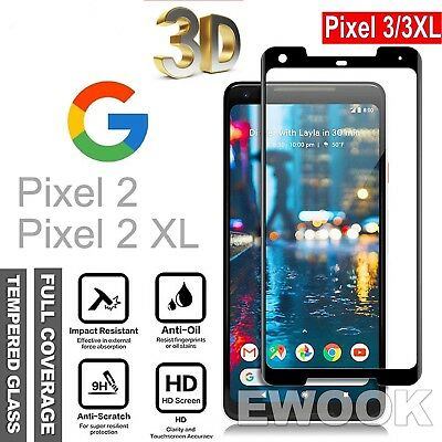 3D Full Coverage Tempered Glass LCD Screen Protector For Google Pixel 3 & 3XL ^^
