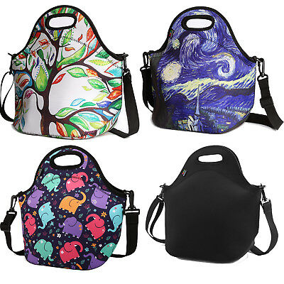 Nuovoware Neoprene Lunch Tote Insulated Picnic Bag Soft Thermal Cooler w/ Strap
