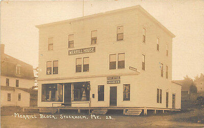 Stockholm Me Post Office Merrill General House Store Cppr Postcard