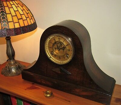 Late 19th Century Ansonia Striking Clock With Visible Escapement