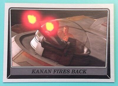 Star Wars Rogue One Mission Briefing Gray Parallel #20 Kanan Fires Back /100