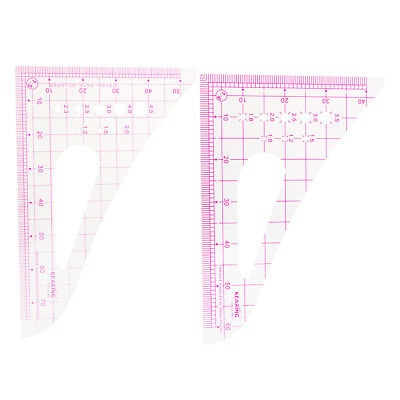 Triangle French Curve Metric Measurements Sewing Dressmaking Tailoring Tool