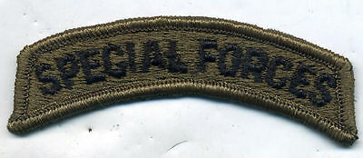 Vintage US Army Special Forces OD Green Subdued Tab Patch
